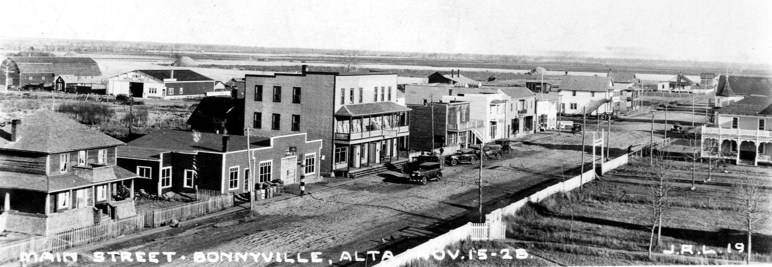 Main Street Bonnyville, 1928